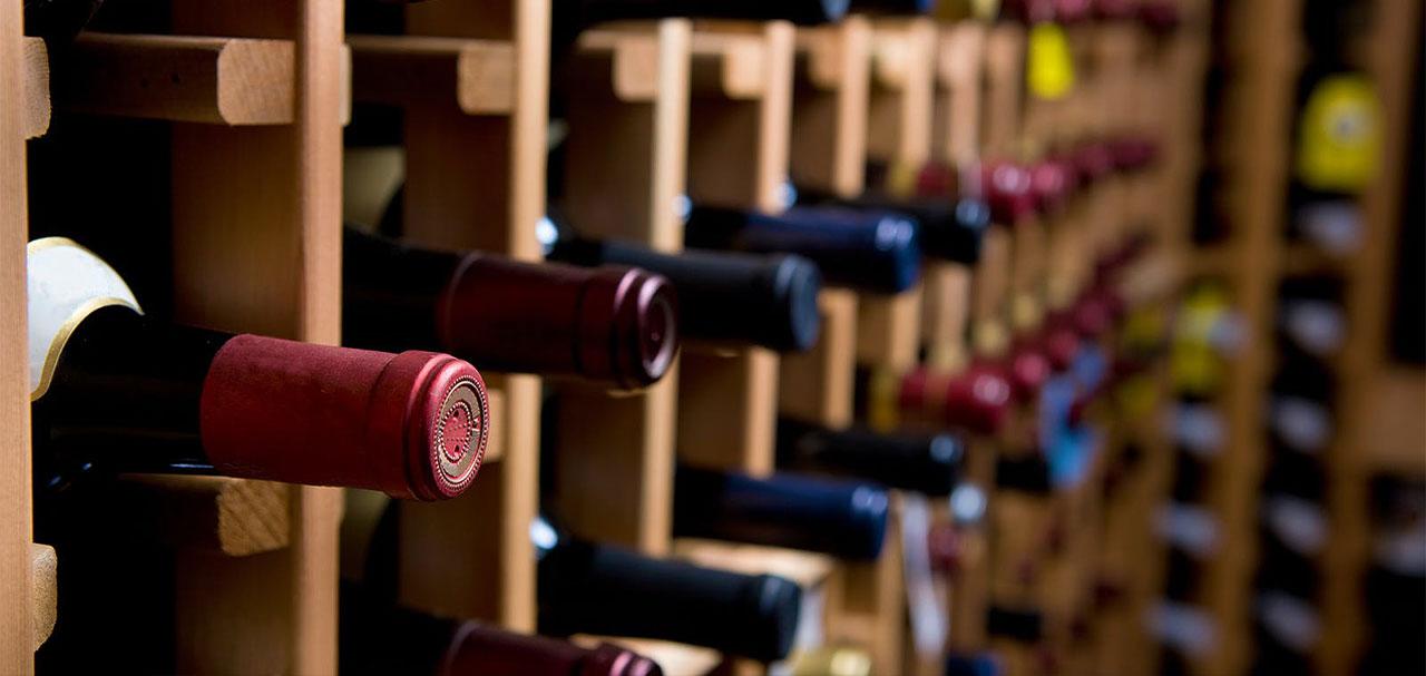 Luxury wine cellar storage