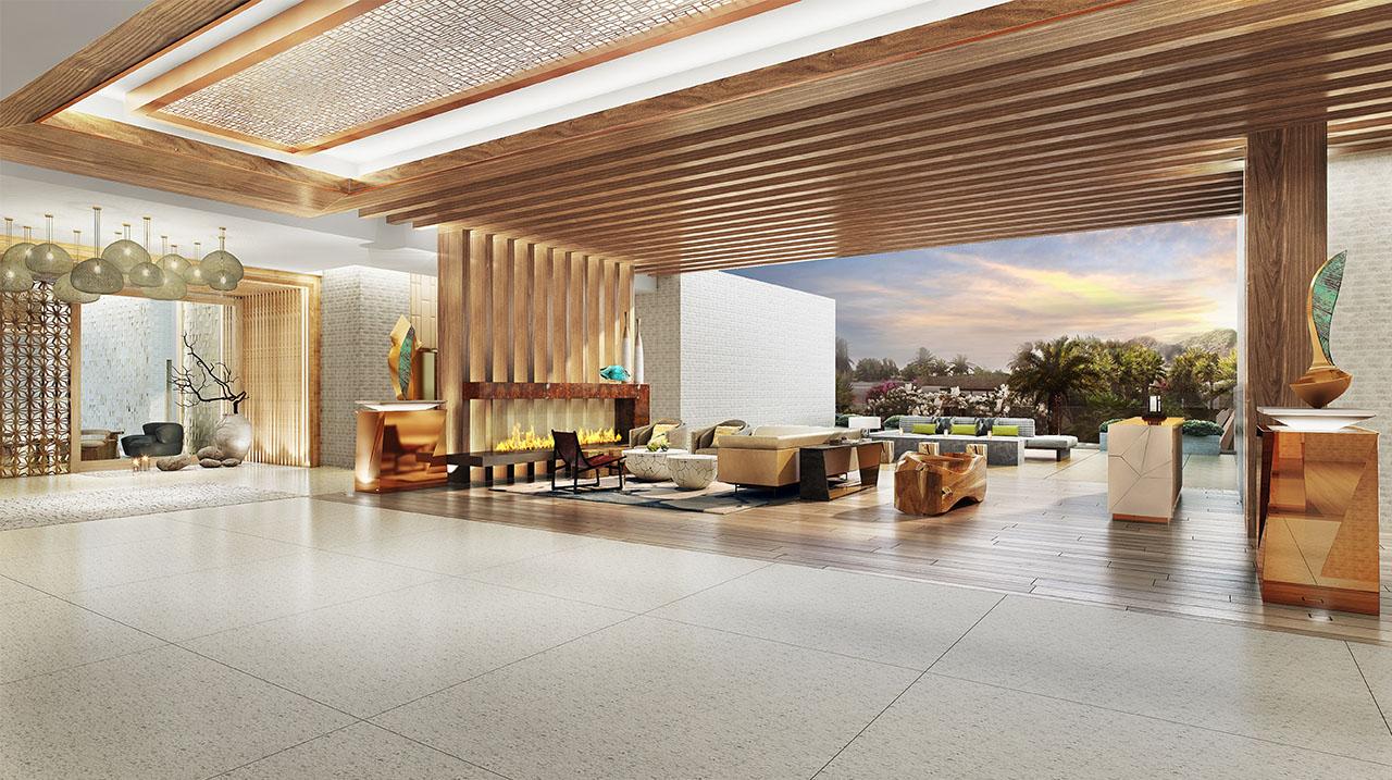 The Palmeraie open-air lobby