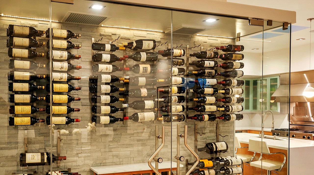 Smart Home Luxury Interior Wine Cellar